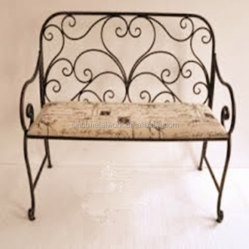 Metal Garden And Home Bench Wrought Iron Sofa Chairs Vintage Steel Bedroom  Bench Decorative Armchair With