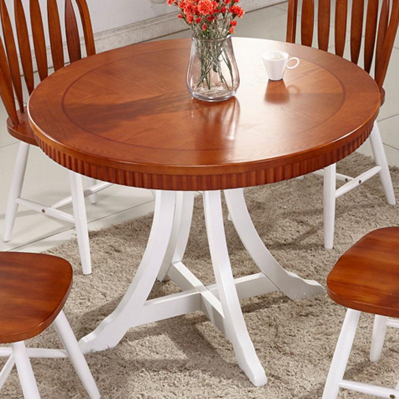 bois rond table manger moderne scandinave minimaliste american pastoral restaurant rustique. Black Bedroom Furniture Sets. Home Design Ideas