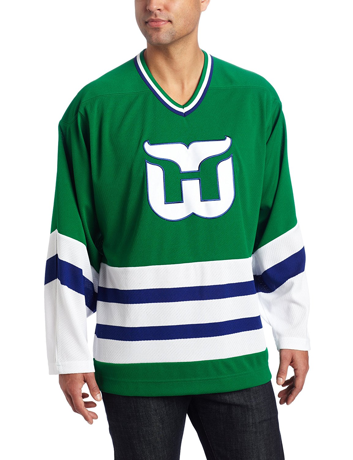 Get Quotations · Hartford Whalers CCM Retro Green Premier Jersey a0f6181e2eb