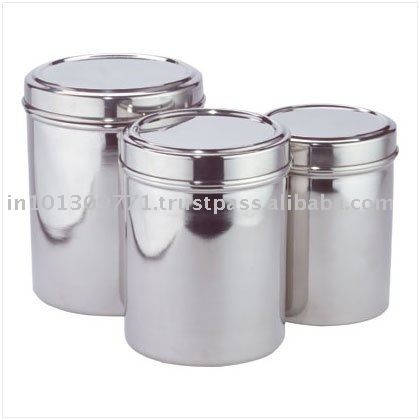 Glass Canister With Stainless Steel Lid Buy Glass Canister With