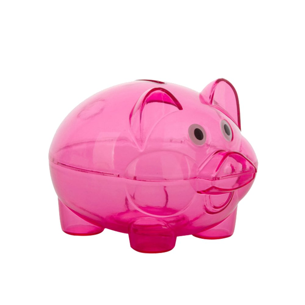 8ce5d20f3 Get Quotations · Clear Lovely Piggy Bank Plastic Coin Cash Money Saving Box  Openable Kids Gift