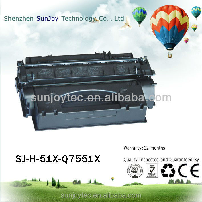 Full Cartridge's Status and for HP Compatible Brand Q7551X toner cartridge