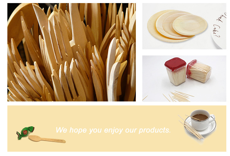 Wholesale disposable short wooden spoon tools