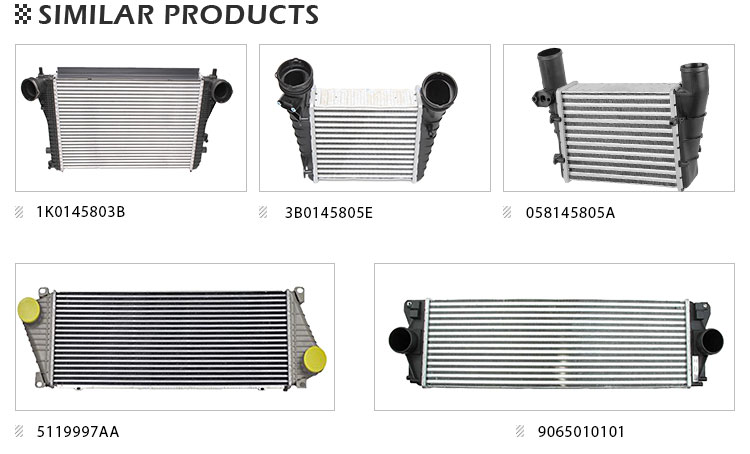550X180X65mm GTHOSE Aluminium Universal Intercooler for Engine Cooling System