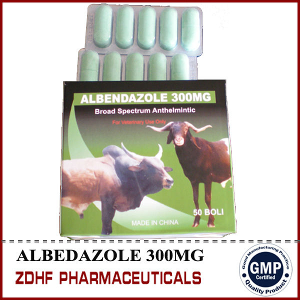 Veterinary parasite drugs 3000mg+100mg Albendazole Ivermectin bolus