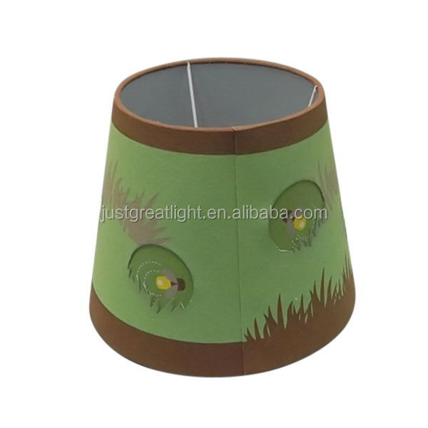 Popular new coming Green light gold thai fabric lamp shade