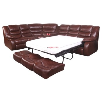 Factory Price Foam Folding 2 In 1 Corner Leather Sofa Bed