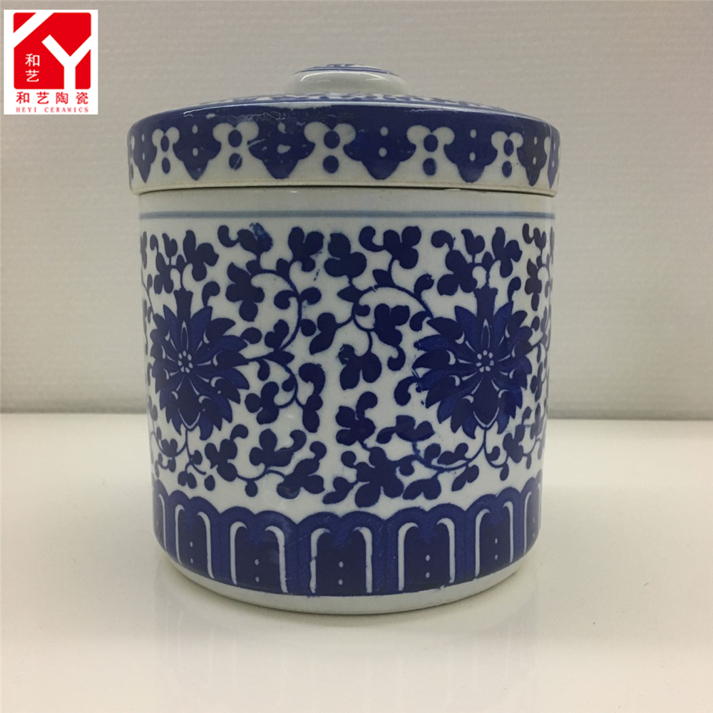 China ceramic jar tea canisters white porcelain storage jar