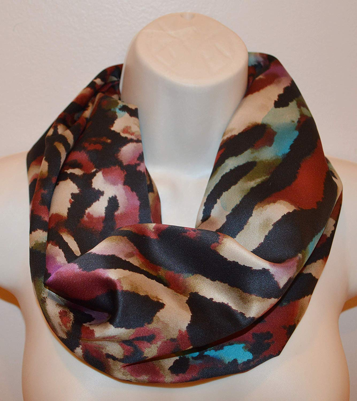 Striped infinity scarf, loop, women/girl infinity scarf, spring scarf, summer scarf, fall scarf