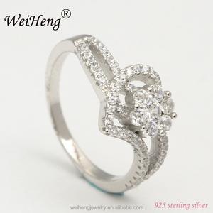 thailand importing jewellery heart shape 925 sun silver wedding ring gold  diamond for women