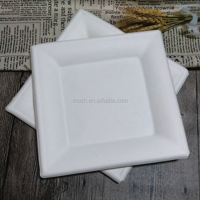 Sugarcane Fiber DisposableTableware Biodegradable Square Paper Plate & fiber paper plates-Source quality fiber paper plates from Global ...