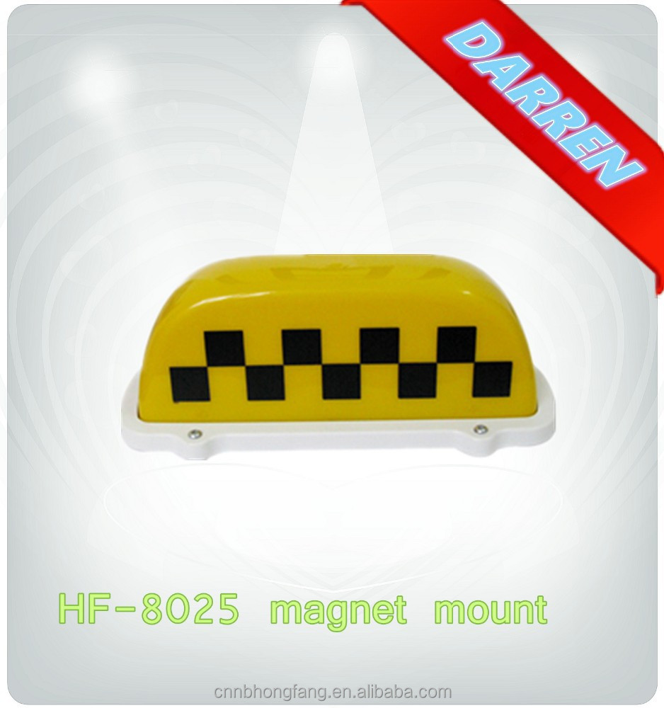 HOT SALE! 12v Magnetic Taxi Roof Sign with Magnet Base Bulb Taxi Roof Light