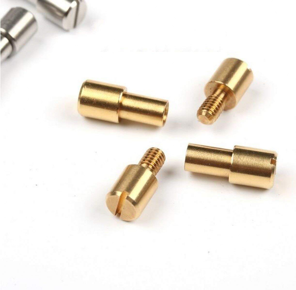 WellieSTR 10 Pieces (M/Solid Brass/4mm) Corby Bolts Fastener, Tactics lock Rivet Knife DIY tools handle fastener Revits,Stud