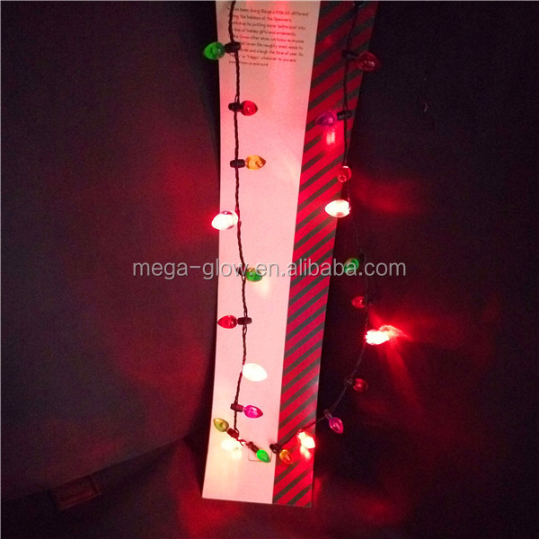 Hot sale 8 flashing light holiday 46cm led christmas light necklace