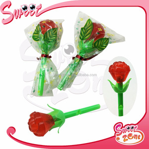 Whistle Rose Hard Lollipop Valentine Candy Gift