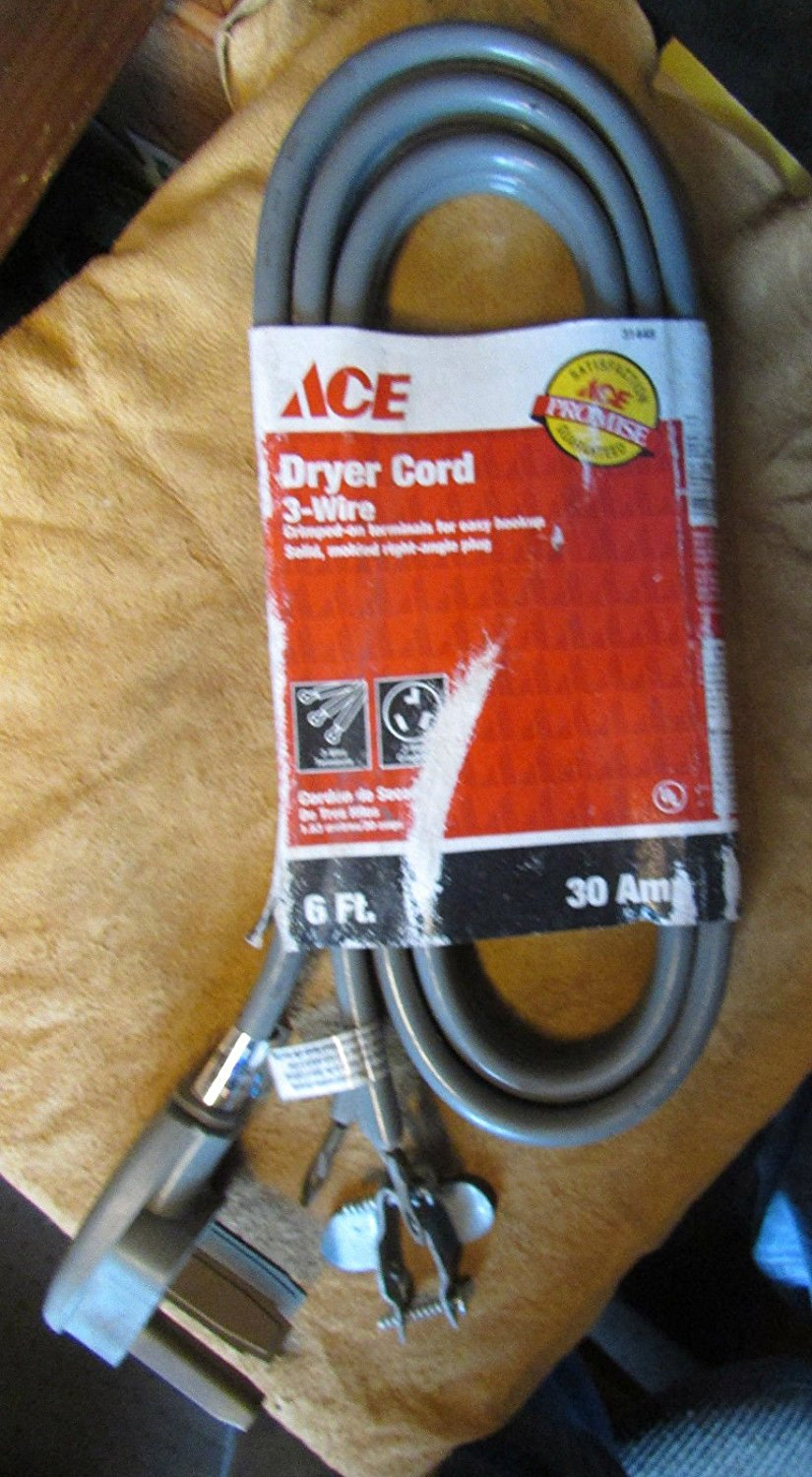 Buy ACE HARDWARE DRYER CORD 6FT 30 AMP NEW / OLD STOCK ;#by:loogadis ...