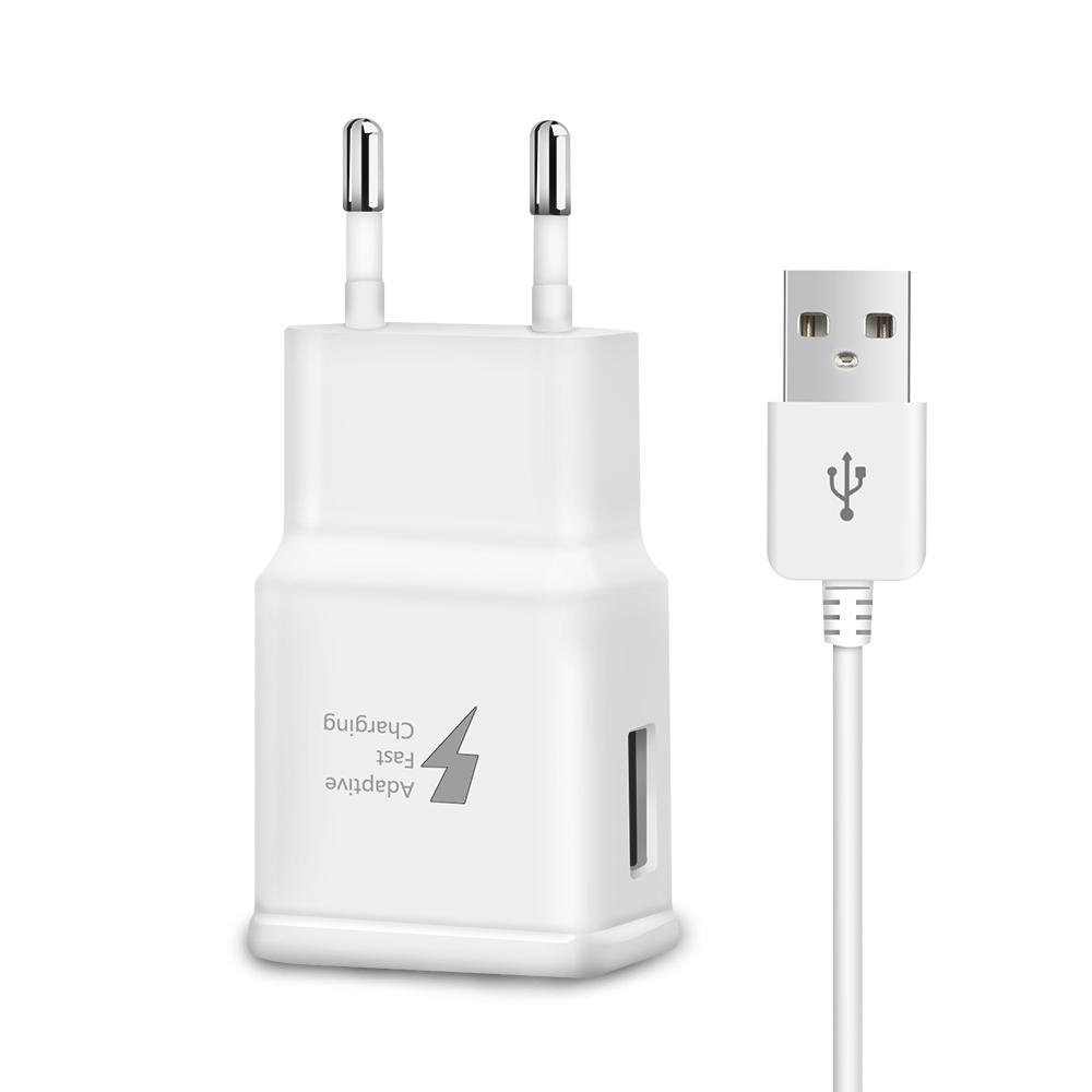 Быстрое зарядное устройство USB питание 5В 2A/9 V 1.67A вилка европейского и американского дорожное настенное зарядное устройство с Micro USB кабель для передачи данных для iPhone/SamSung
