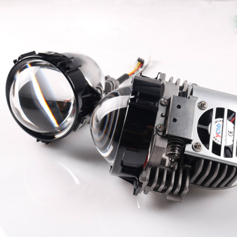 Sanvi new car led headlight super bright bi LED projector lens automobile head light bulb with 0.5W Devil Eye