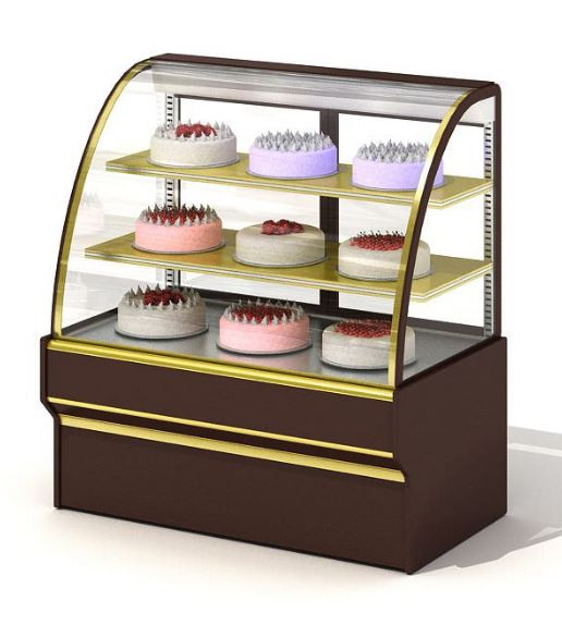 acrylic cake display cases counter cake display fridge table top cake chiller display