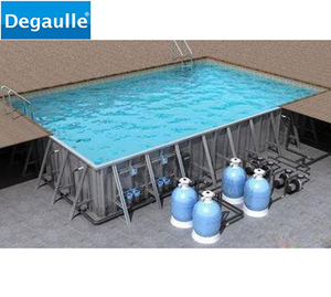 Steel structure Fiberglass Swimming Pool inground