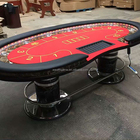 Casino Quality Deluxe Bean Size Poker Table With LED light