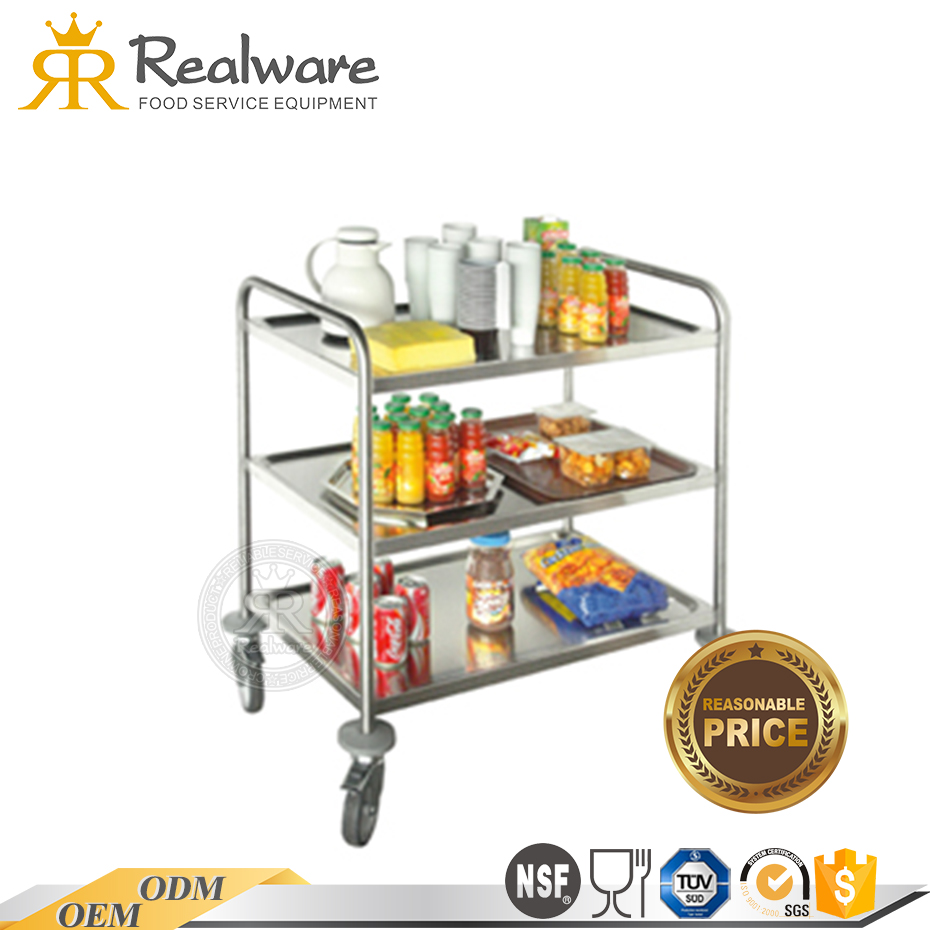 Portable clear acrylic rolling beverage bar serving cart banquet tea trolley Food grade