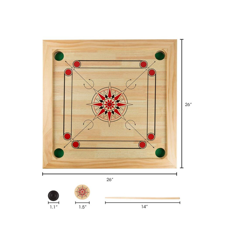 New Green Carrom Board Striker 65mm by 5mm Buy 1 Get 1 Free see description