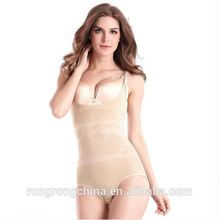 News Womens Slimming Bamboo Underbust Shapewear Shaper Suit Body Control Bodysuit