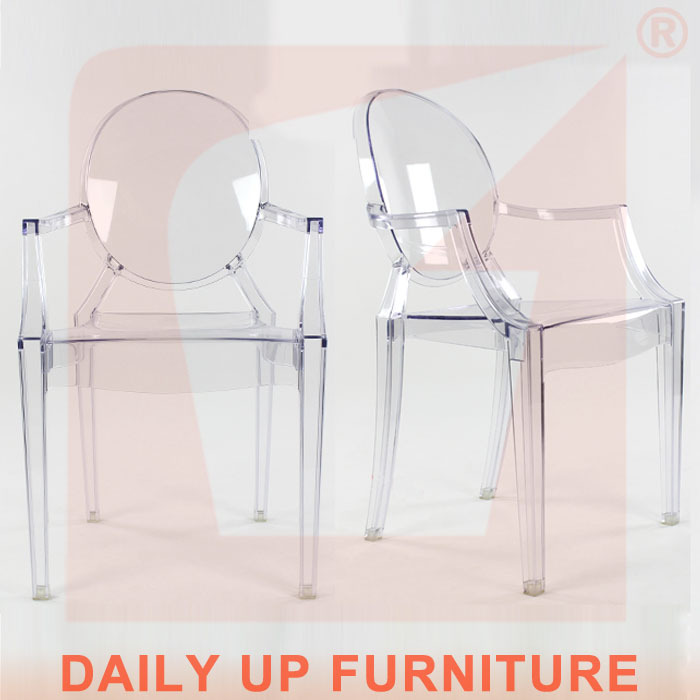 claro de cristal silla louis ghost silla silla de plástico ...