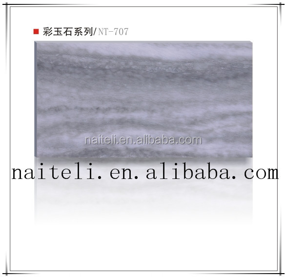 High Glossy Transparent Artificial Marble Imitation Stone