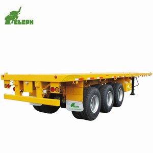 3 Axles Flatbed Truck Semitrailer 40ft Container Trailer Price in India