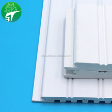 3T PW024 Gesso primer coated PVC wainscot wall board 3d plastic wall panel