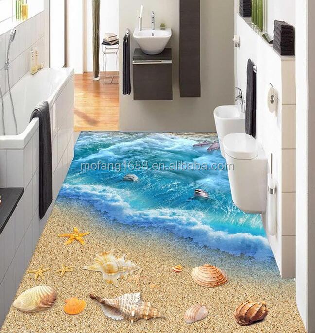 3d adh sif rev tement de sol en vinyle papier peint avec r sine poxy 3d peinture murale de. Black Bedroom Furniture Sets. Home Design Ideas