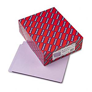Smead : Colored File Folders, Straight Cut, Reinforced End Tab, Letter, Lavender, 100/Bx -:- Sold as 2 Packs of - 100 - / - Total of 200 Each