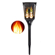 Goldmore Solar Flickering Flame Gardening Night light, Outdoor Dancing Flickering Flames Torches Lawn Lamp