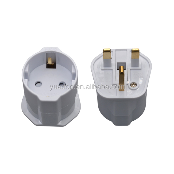 With CE&ROHS 250V 13A European to UK uniersal travel adapter plug for people go to travel