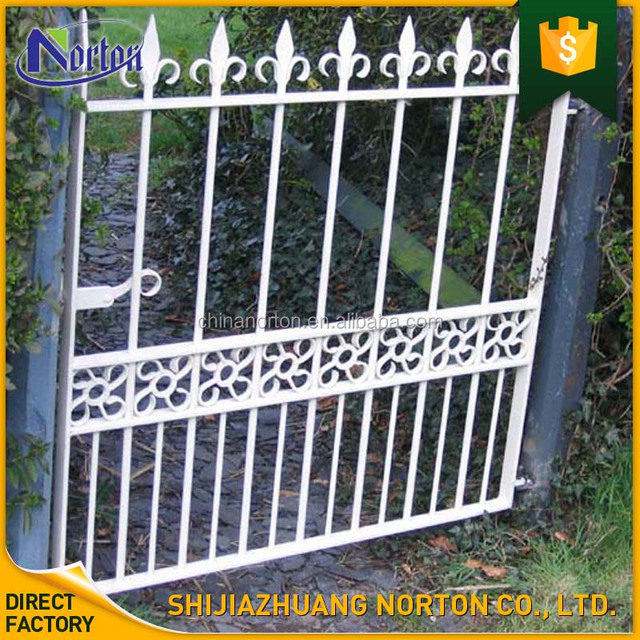 White Forged Traditional Cheap Cast Iron Garden Gate NT CI095Y