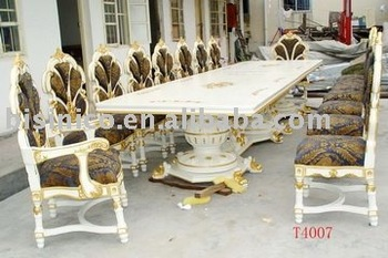european antique long big size dining table,16 person,dining chairs 16 Person Dining Table