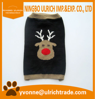 M137-5 new 2016 acrylic knitted christmas dog jumpers