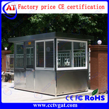 Factory price strong frame Rainproof 3-4 person high-capacity movable guard booth / stainless steel sentry house