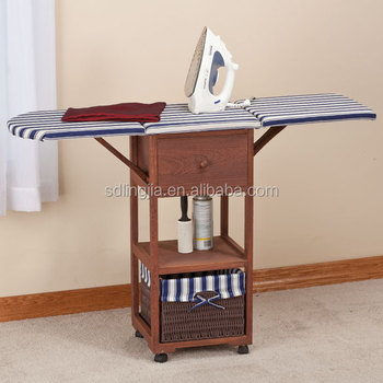 Wicker Furniture Folding Cupboard Ironing Board Drawers With Cabinet