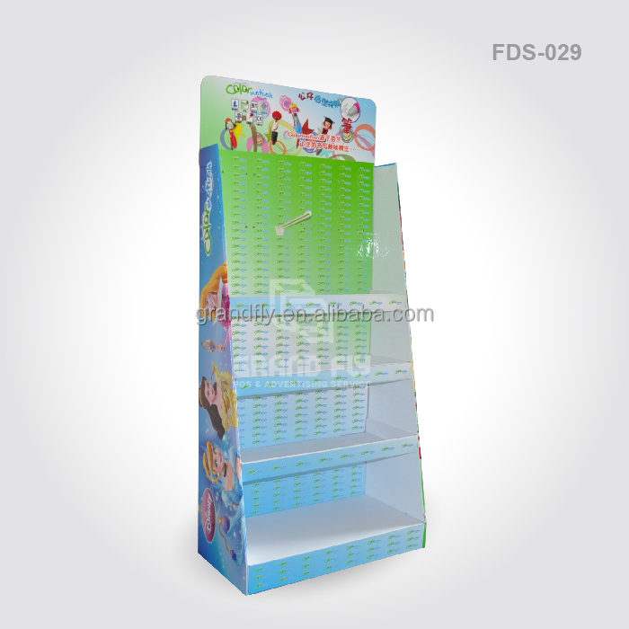 Custom Cardboard Hook Display Stand for Stationery