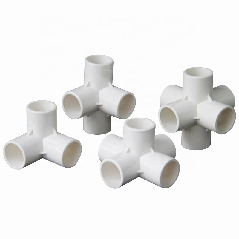 25mm PVC Pipe Connectors 4-way, 3-way, Elbow, Straight Joints Plastic Garden Irrigation Water Tube  20/25/32mm  1 1/2 3/4