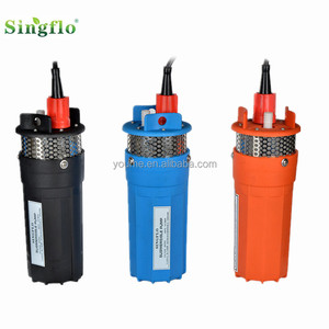 Singflo 12V 4inch ac/dc solar submersible pump /deep well water pump price list