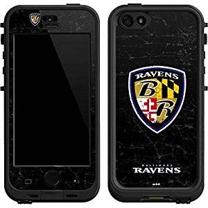 NFL Baltimore Ravens Lifeproof Nuud iPhone 5&5s Skin - Baltimore Ravens - Alternate Distressed Vinyl Decal Skin For Your Lifeproof Nuud iPhone 5&5s