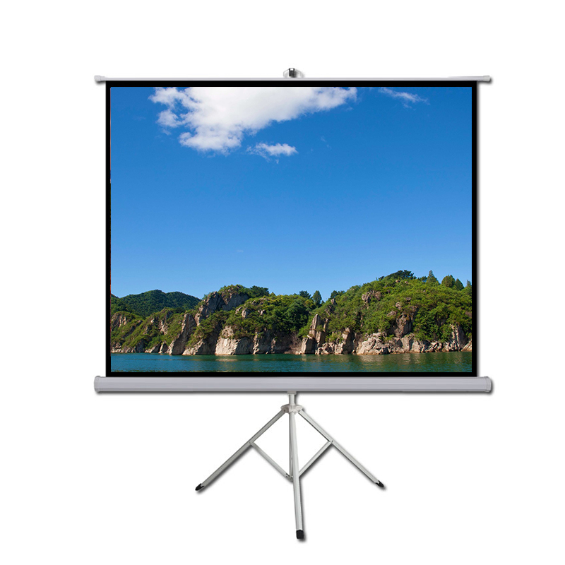 Best Retractable Home Video Projection Screen 96 Inch Outdoor Folding Tv Projector
