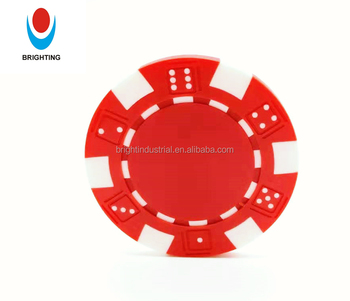 Red ABS 11.5g In Stock Gambling Game Custom Printing Blank Casino Royal Poker Chips