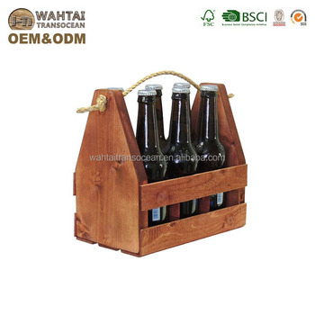 Wahtai Rustic Wooden Craft Beer Six Pack Bottle Carrier Caddy Fits For Wedding 2019 View Bottle Carrier Wahtai China Product Details From Qingdao