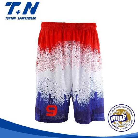 lose baggy cargo sublimierte basketball shorts