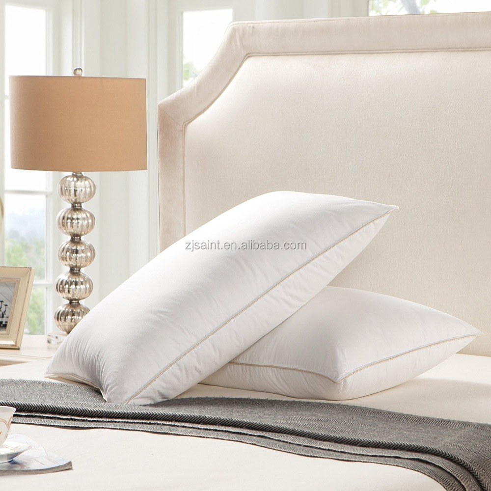 Classic white goose duck feather sleeping down pillow standard 20x26in firm down pillow